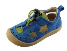 Filii barefoot sandály Electric blue stars vegan M