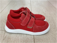 Baby bare shoes Febo sneakers red