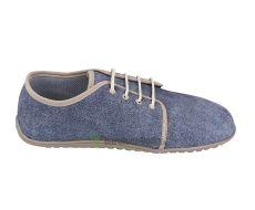 Beda barefoot kožené boty s membránou - denim