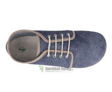 Barefoot Beda barefoot kožené boty s membránou - denim bosá