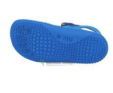 Barefoot KAIMAN velcro velours turquoise/blue Filii bosá