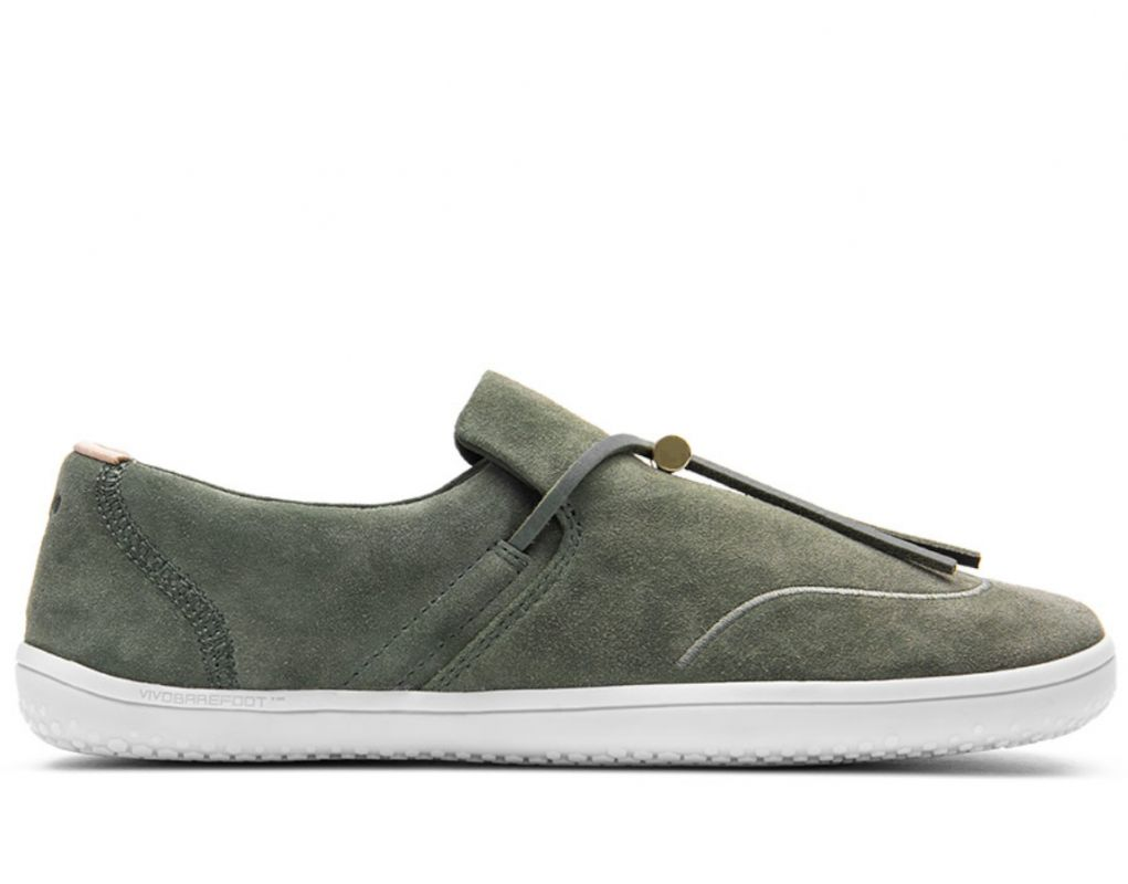 Barefoot VIVOBAREFOOT RA SLIP ON L OLIVE GREEN LEATHER bosá