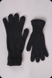 Barefoot Surtex rukavice tmavé 100% merinové vlny silné - dětské bosá