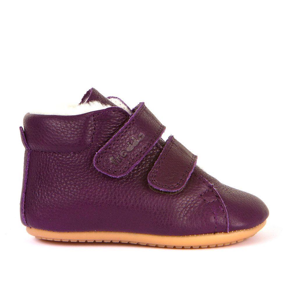 Barefoot Barefoot boty Froddo Prewalkers zimní purple sheepskin bosá