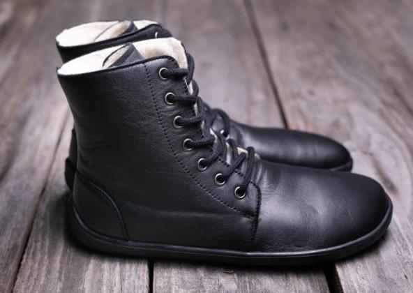 Barefoot Barefoot kotníkové boty Be Lenka Winter – Black bosá