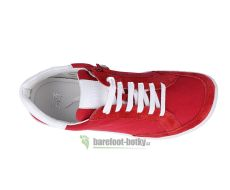 Barefoot Barefoot tenisky Filii - ADULT Love You Velours/Canvas Red bosá