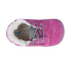 Barefoot Beda Barefoot - Rebecca - zimní boty s membránou-tkaničky bosá