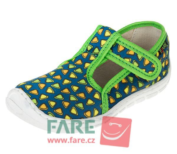 Barefoot FARE BARE DĚTSKÉ PAPUČE NA SUCHÝ ZIP 5102432 bosá