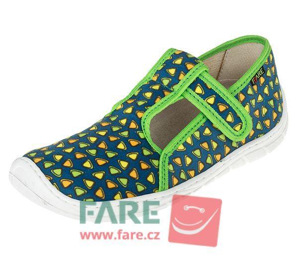 Barefoot FARE BARE DĚTSKÉ PAPUČE NA SUCHÝ ZIP 5202431 bosá