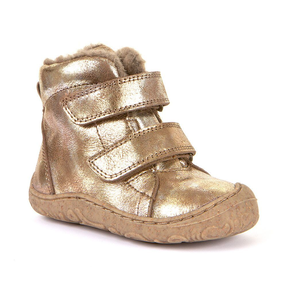 Barefoot Froddo extra flexible winter boots gold bosá