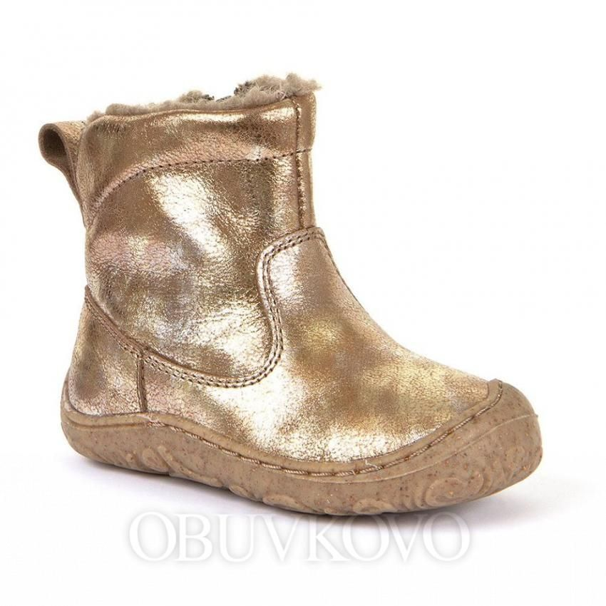 Barefoot Froddo extra flexible winter boots wool gold bosá