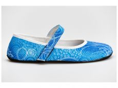 Ahinsa shoes Balerínka Ananda  Zentangle (modrá)