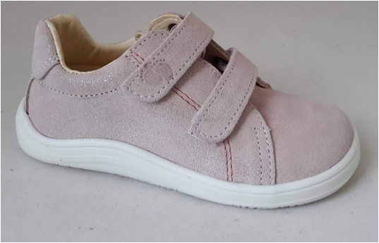 Barefoot Baby bare shoes Febo Sparkle pink bosá