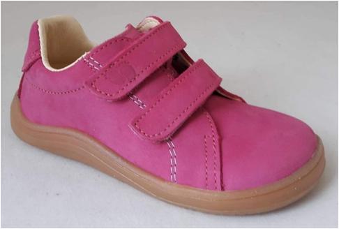 Barefoot Baby bare shoes Febo Spring fuchsia nubuk bosá