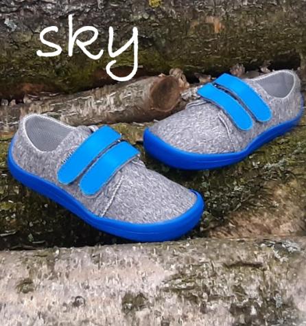 Barefoot Beda barefoot tenisky Soft sky bosá
