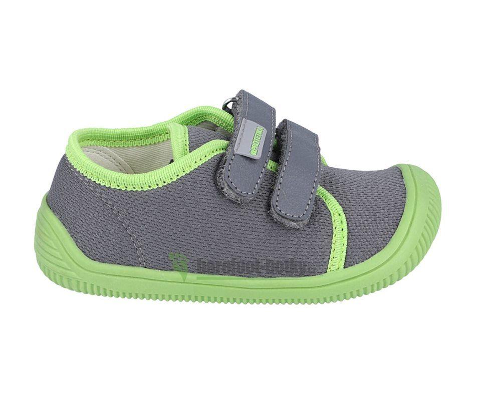 Barefoot Protetika Alix grey - textilní tenisky bosá