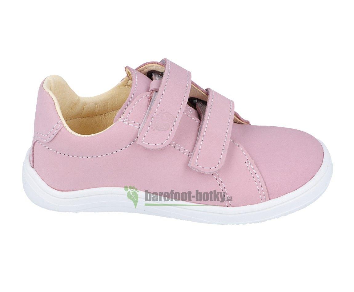Barefoot Baby bare shoes Febo pink nubuk bosá