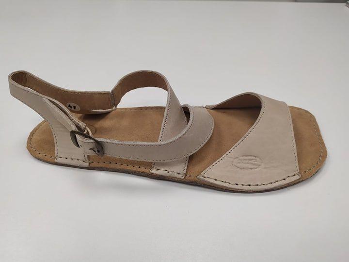 Barefoot Barefoot kožené sandále béžové 01 ORTOplus Barefoot bosá
