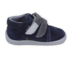 Beda Barefoot Lucas modro-šedé - celoroční boty s membránou