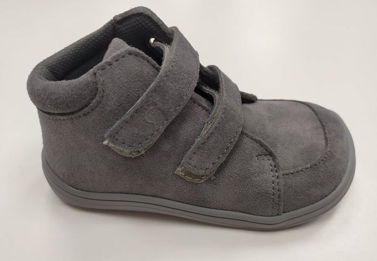 Barefoot Baby bare shoes Febo Fall Grey Velour bosá