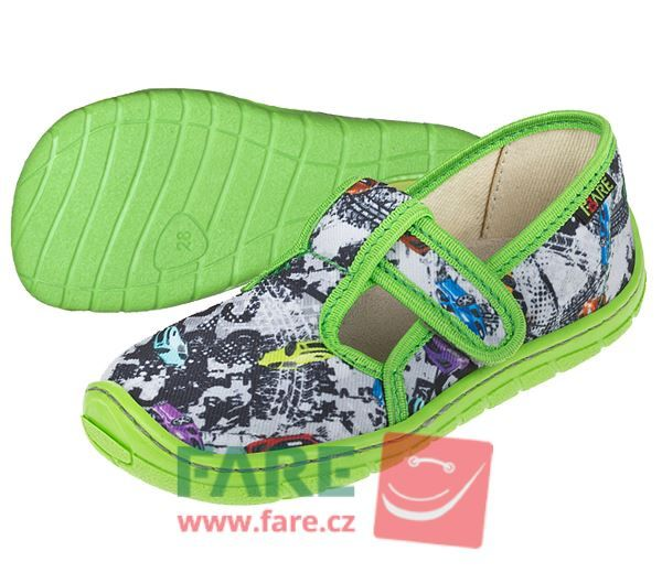 Barefoot FARE BARE DĚTSKÉ PAPUČE NA SUCHÝ ZIP 5202432 bosá