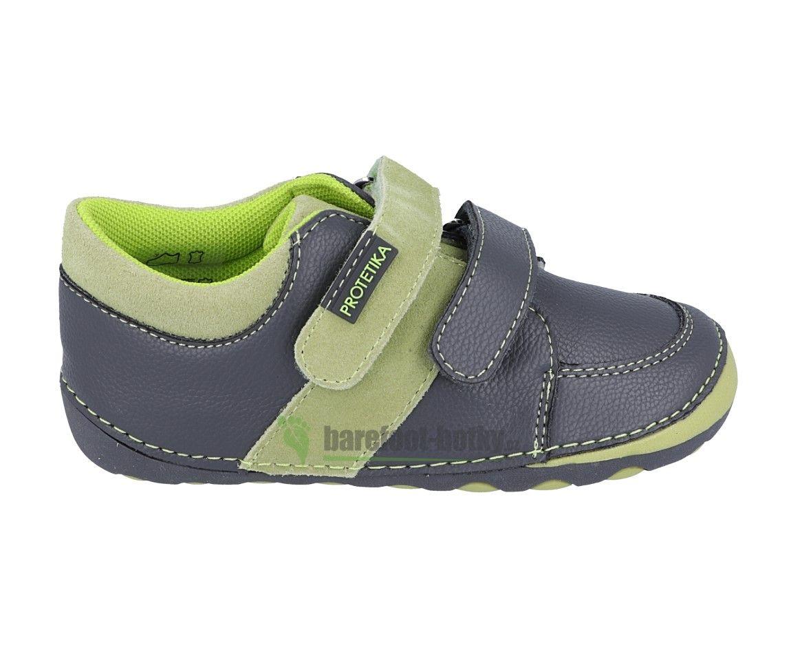 Barefoot Protetika Kleo green - celoroční botky bosá