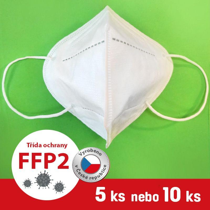 Barefoot Respirátor / Filtrační polomaska FFP2 5 ks bosá