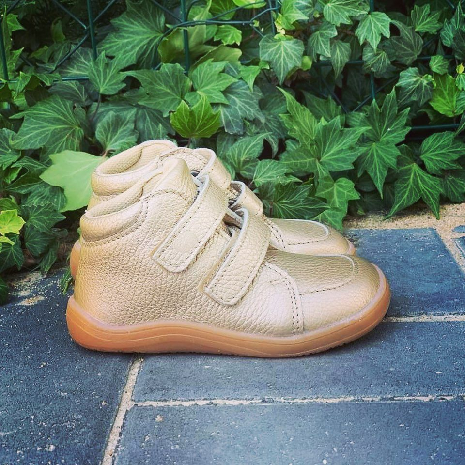 Barefoot Baby bare shoes Febo Fall Gold bosá