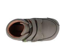Barefoot Barefoot boty Bundgaard Prewalker II Velcro Army WS bosá