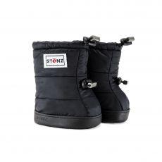Barefoot boty Stonz Puffer Booties - Black