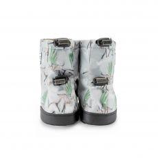 Barefoot Barefoot boty Stonz Toddler Booties - Magic Deer Print - Green/Grey bosá