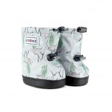 Barefoot boty Stonz Toddler Booties - Magic Deer Print - Green/Grey