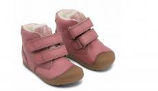 Bundgaard Petit Mid winter nostalgia rose - zimní barefoot botičky