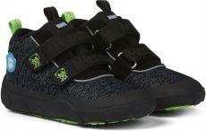 Children's barefoot boots Affenzahn Minimal Lowboot Knit Panther - Gray / Black   23, 24, 25, 26, 27, 28, 29