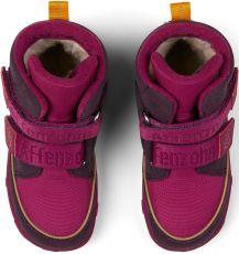 Barefoot Dětské barefoot botičky Affenzahn Minimal Midboot Vegan Bird - Blackberry bosá