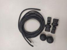 Elastičké tkaničky Easy tie černé reflexní