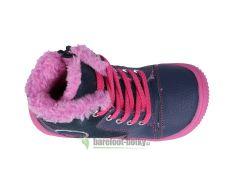 Barefoot Protetika zimní barefoot boty Amis fuxia bosá