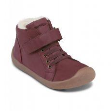 Barefoot Zimní boty Bundgaard Walker Mid Lace Plum bosá