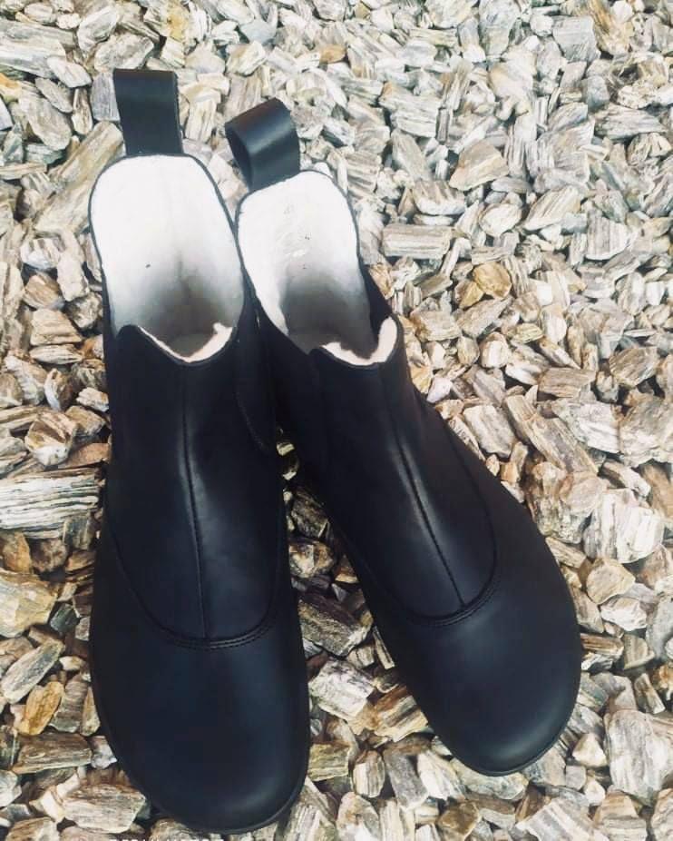 Barefoot Barefoot boty Angles ARTEMIS EV WINTER Black Angles Fashion bosá