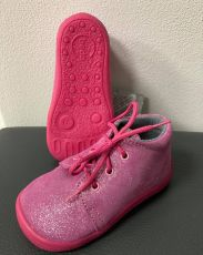 Beda barefoot year-round shoes - Janette all pink - laces