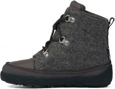 Barefoot Dětské barefoot botičky Affenzahn Minimal Midboot Wool Lace Dog - Grey bosá