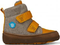 Children's barefoot shoes Affenzahn Minimal Midboot Wool Tiger - Brown / Yellow