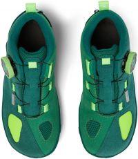 Barefoot Dětské barefoot botičky Affenzahn Minimal Trail Explorer Vegan Frog - Green bosá