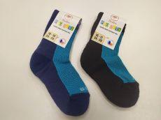Barefoot Dětské Surtex merino ponožky froté - tenké modré bosá