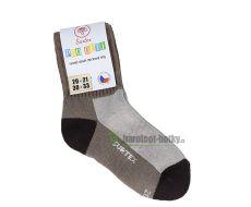 Children´s Surtex merino sports terry socks - beige | 14-15 cm
