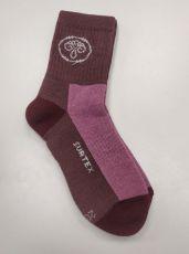 Children´s Surtex merino sports terry socks - violet | 20-21 cm