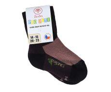 Dětské Surtex merino sportovní ponožky froté - tmavě hnědé