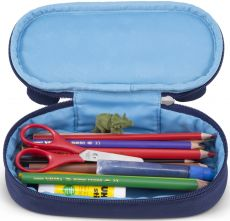 Barefoot Dětský penál Affenzahn Pencil Case Bobo Bear - petrol bosá
