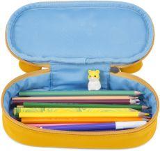 Barefoot Dětský penál Affenzahn Pencil Case Timmy Tiger - yellow bosá