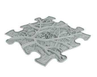 Barefoot Podlaha MUFFIK puzzle kořeny měkké bosá